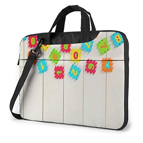 Laptop Messenger Laptop Bag Colorful Puzzle Bolso de Hombro de Madera Maletín Maletín de Oficina Funda para computadora portátil Satchel Tablet para Hombres Mujeres