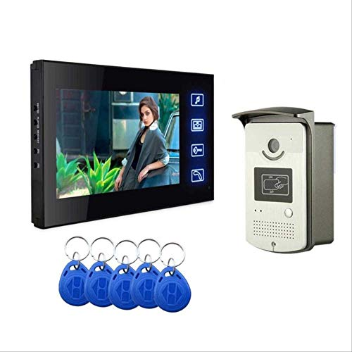Video Doorbell Video Intercom Monitor Táctil De 7 pulgadas Timbre De Video Videoportero Intercomunicador Rfid Contraseña Sistema De Cámara Grabación Sd 806REC-MEID-11