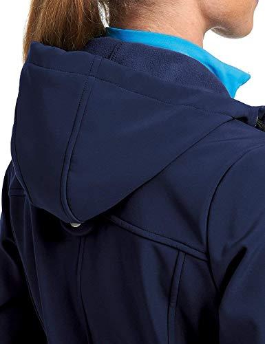 Maier Sports Damen Mim Softshell Mantel, Medieval Blue, 50