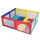 GFF Valla de Juegos para niños Valla de Seguridad para niños en Interiores Alfombrilla para Gatear en el hogar Parque de Juegos Parque Infantil Piscina para niños Parque Infantil Rojo, 120x120x7