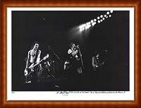 ポスター マイケル ザガリス Sex Pistols 手書きナンバリング限定10枚/サイン入り 額装品 ウッドハイグレードフレーム(ナチュラル)