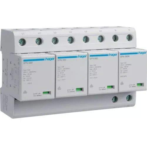Hager SPN802–Limiter Überspannungsschutz tipo-i + Typ Bipolar 100KA 3-polig + neutral