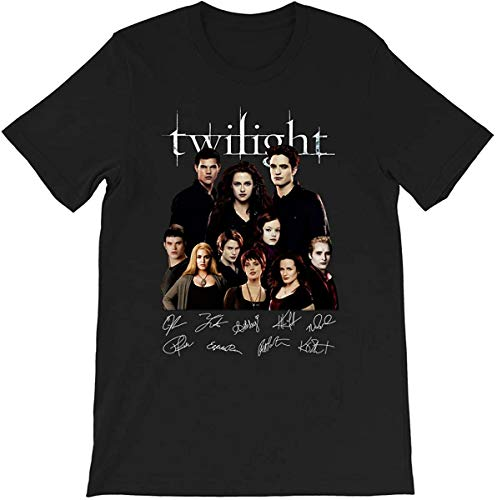 The #Twilight Saga cast Full Signed #Edward Cullen #Bella Swan Graphic Gift Men Women T-Shirt,Black,Medium