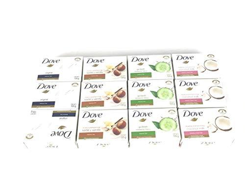 Dove Bar Soap Variety Pack 12 135g Go Fresh Shea Butter Coconut Milk & white
