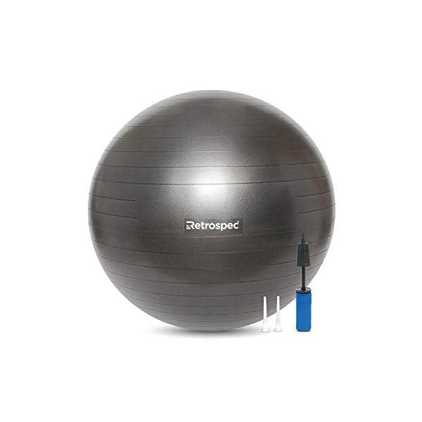 Retrospec Luna Exercise Ball, Base & Pump / Ball & Pump with Anti-Burst...