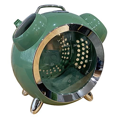 猫 犬 ペット キャリー 温湿度デジタル表示付き ペットキャリー カプセルペット アラームクロック リュック ネコ ケージ MR-PETAP01 (グリーン)