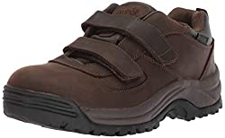 professional Propet Cliff Walker Men's Low Strap Ankle Boots, Brown Crazy Horse, 11 D, USA