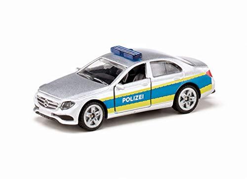 siku 1504, Polizei-Streifenwagen, Metall/Kunststoff, silber, Öffenbare Türen, Anhängerkupplung