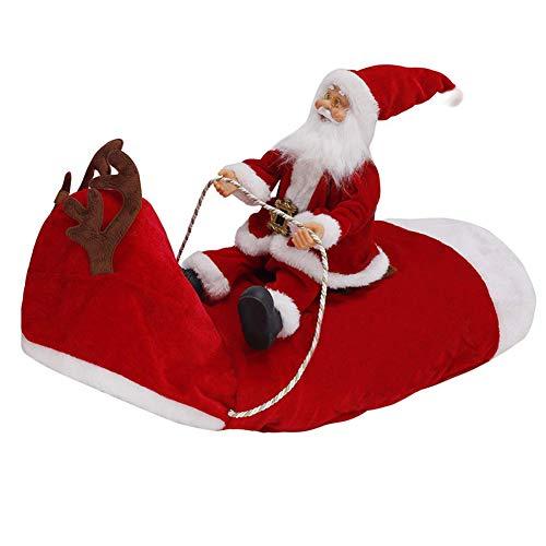 Santa Que Se Ejecuta para Perros Navidad del Traje De Perrito, Partido De La Ropa del Perro Disfrazarse Ropa De Fiesta Divertido Pequeo Grande Perros Mascotas Traje De Vacaciones