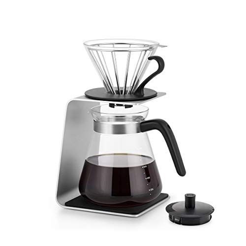 SAKI Pour Over Coffee Maker Starter Set with Dripper - Includes Glass Dripper, Non-Slip Bracket and Pour Over Coffee Pot - (27 Ounce/800 ml)