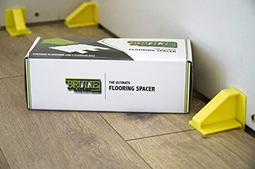 Flooring Spacer for Laminate Vinyl Plank and Hardwood Floors | Great for Professional and DIY Floating Floor Installation | Brulie Flooring Spacers The Perfect Addition to Your Floor Installation Kit