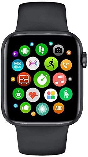 JIAJBG Moda Smart Watch Hombres Mujeres Monitor de Ritmo Cardíaco Presión Arterial Ip68 Termómetro Relojes Inteligentes Bluetooth Call-Black Exclusivo/Negro