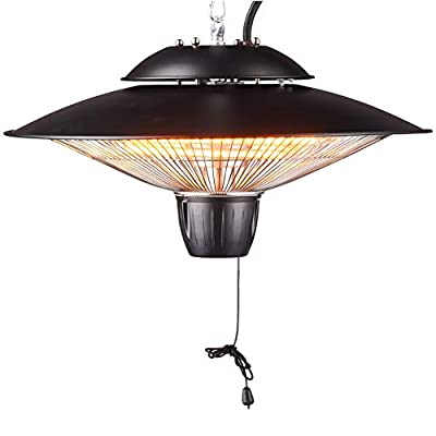 DONYER POWER 1500W Outdoor/Indoor Electric Patio Heater, Ceiling Mounted, Iron (HCH502, Coppering)
