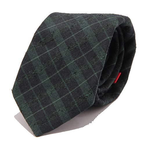ALTEA 8918J cravatta uomo green/blue silk/wool ABRADED effect tie men [ONE SIZE]