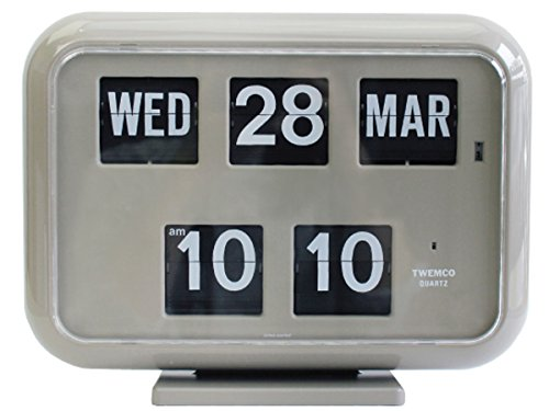 トゥエンコ デジタルカレンダークロック  Twemco Digital Calendar Clock QD-35 Gray