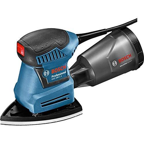Bosch Professional 06012A2370 Orbital Sander GSS 160-1 A Multi (240 V, Corded, 180 W, in L-BOXX 136), Blue, 15.5 cm*44.0 cm*36.0 cm