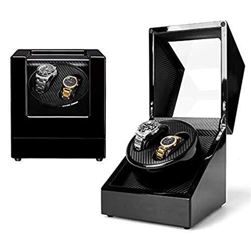 Betty Regalo Watch Winder Watch Winder Doble rotación de epítopo Silenciador de Motor automático Parabrisas, Caja de Almacenamiento de Reloj de Pintura de Piano de Madera, Se Adapta a Reloj Masculino