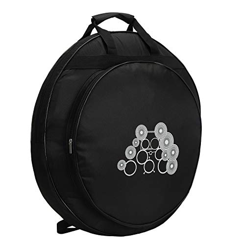 Tosnail 22' Cymbal Gig Bag with Carry Handle and Shoulder Straps - Great for Dust-proof Storage
