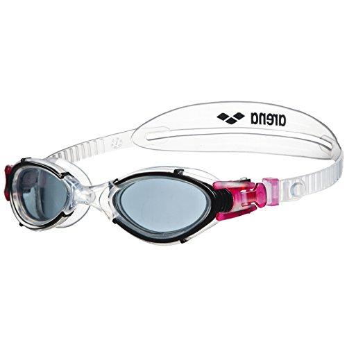 arena Damen Training Freizeit Schwimmbrille Nimesis Crystal (UV-Schutz, Anti-Fog Beschichtung, Weiche Gläser), Smoke-Clear-Black (15), One Size
