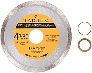 TAICHIV High Performance 4 1/2inch 115mm Continuous Rim Diamond Circular Blades