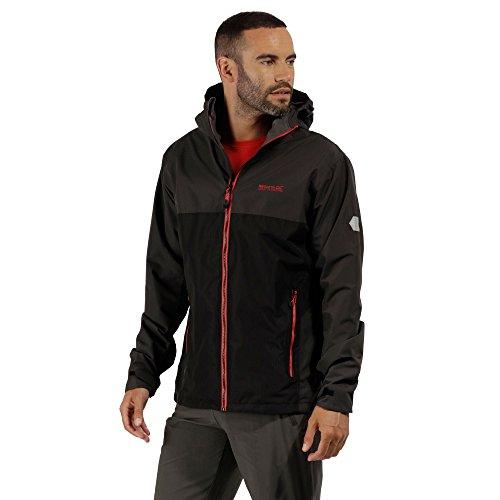 Regatta Semita II Waterproof Veste Homme, Ash Grey/Black, XXXL