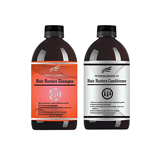 Hair Restoration Laboratories Hair Restore Shampoo and Conditioner Set, DHT...