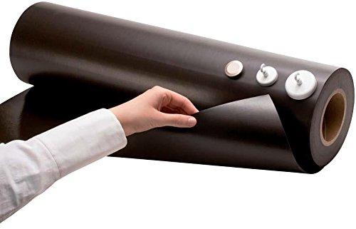 Eisenfolie Ferrofolie - 0,6mm dick - Material & Größe nach Auswahl - roh braun, weiss matt/glänzend beschreibbar/abwischbar - flexibler Haftgrund für Magnete, Größe: 50 x 100cm, Variante: roh braun