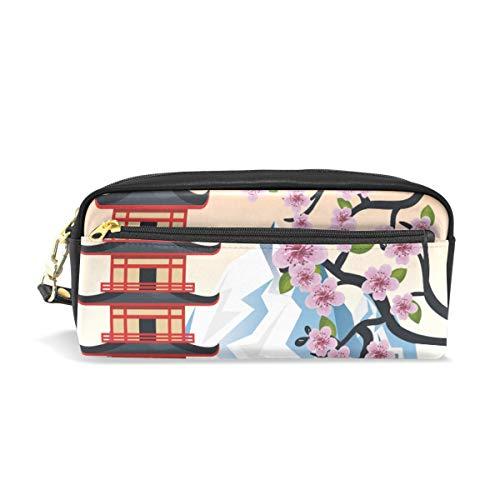 Stift Fall Schreibwaren Japanischen Stil Baum Berg Bleistift Taschen Tragbare Tasche für Schule Kinder Kinder Kosmetiktasche Make-Up Schönheit Fall