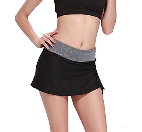 Women's Casual Mini Tennis Skirt Gym Girls Running Skorts with Built-In Shorts