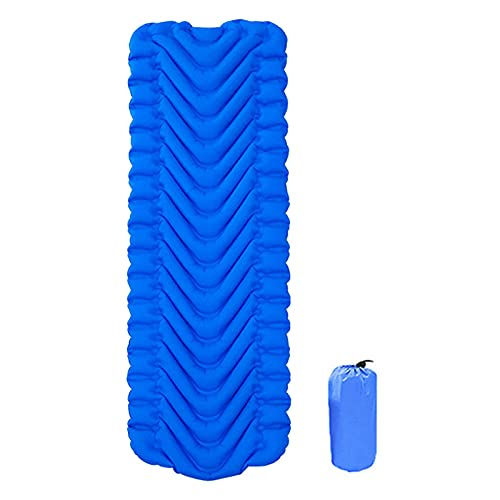 Colchoneta aislante autoinflable para camping, portátil, para senderismo, para exteriores, fácil de plegar, 190 x 58 x 5 cm