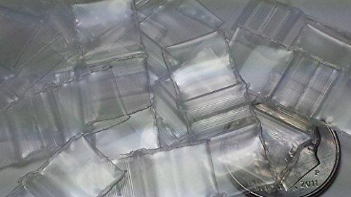 3838 Original Mini Ziplock 2.5mil Plastic Bags 3/8″ x 3/8″ Reclosable Baggies (Clear, 100 Bags)