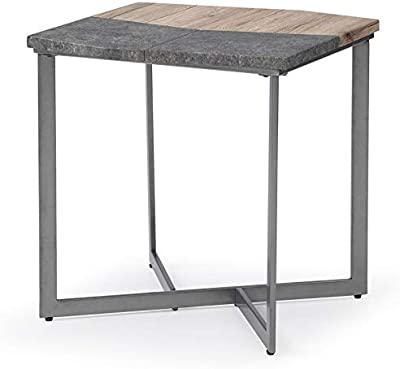 Metal Base End Table End Table With Adjustable Levelers Silver