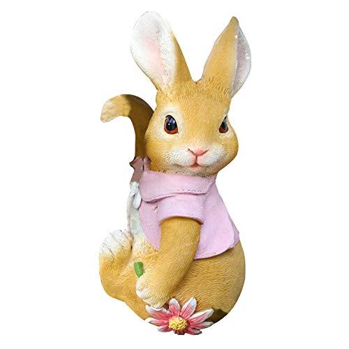 Chuanfeng Dekofigur Hase Stehend, Hasen Figuren Für Haus Und Garten Kleintiere Häschen Hase Schlappohr