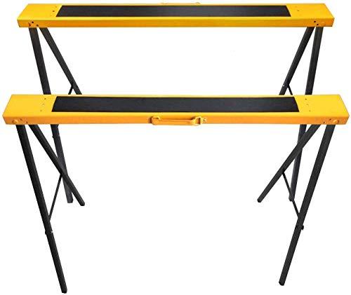 FEMOR 2 Stück Klappböcke Arbeitsböcke Höhenverstellbar Klappbar Unterstellböcke bis 120kg belastbar Platzsparend Arbeitsbock Metall