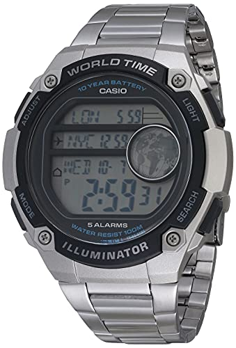 Reloj Casio Illuminator para Hombres 55mm, pulsera de Acero Inoxidable