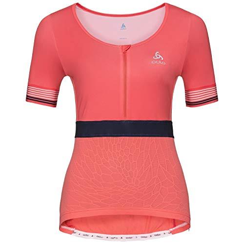 Odlo Stand-up Collar S/S 1/2 Zip ceramicool x T-Shirt, Femmes M Multicolore (Dubarry)
