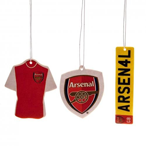 Arsenal FC Official Football Gift Air Freshener Car Accessory (3 Pack) - A Great Christmas/Birthday Gift Idea For Men And Boys