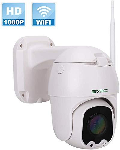 1080P Telecamera Wifi Esterno, SV3C Pan Tilt Telecamera di Sorveglianza, Audio a 2 Vie, Rilevazione Movimento, 50m Visione Notturna videocamera