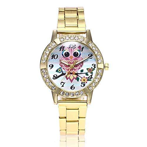 Exquisito, hermoso, decente, novedoso y único. Relojes de pulsera Relojes Relojes Relojes Unisex Hombres Mujeres Mujeres Relojes Deportes Búho Cuarzo Movimiento Relojes Aleación Harajuku Wind & FF