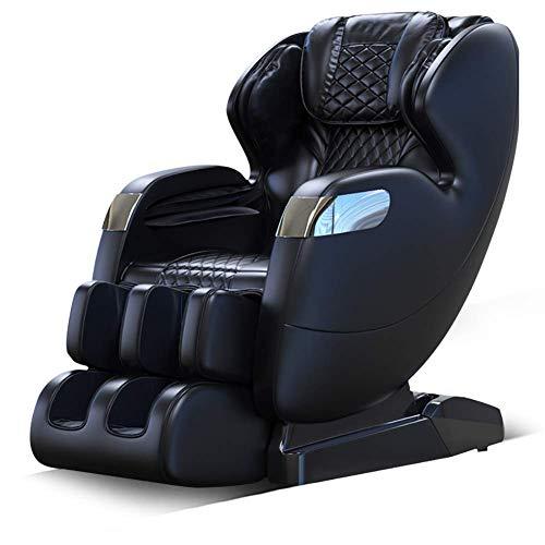 Gpzj Stuhl Elektrische Massage, Ganzkörper Automatik Multifunktions SL Schiene Schwarz Massagesofa