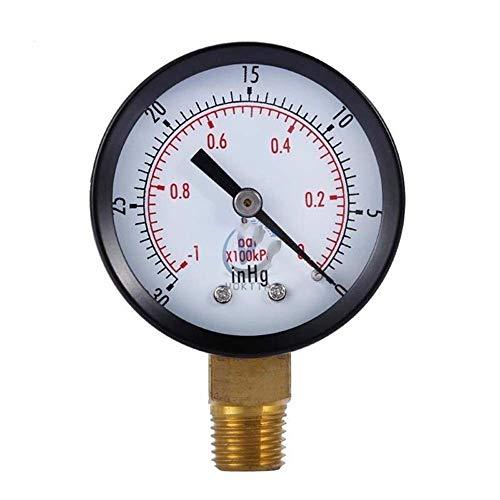 QWERTOUR Vakuum-Manometer Mini Dial Tragbare Dual-Skala Anzeiger-Skala 1/4