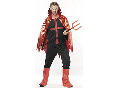 JUGUETILANDIA Disfraz Lucifer Malvado Hombre Talla XL