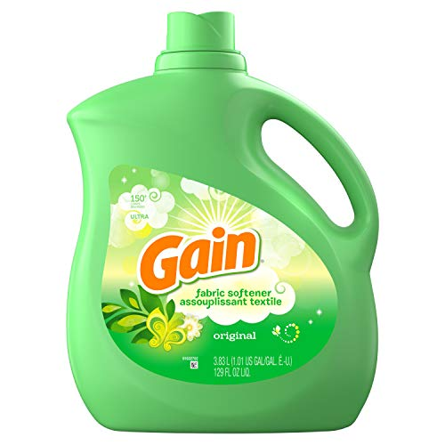 Gain Liquid Fabric Softener, Original Scent, 3.83 L (150 Loads) - Packaging May Vary