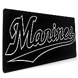 千葉ロッテマリーンズ マウスパッド ゲーミング おしゃれ 防水 耐久性が良い 防水 キーボードパッド 大型ゲーム専用裏面滑り止め 厚さ0.3cmのゴム製 40*90cm