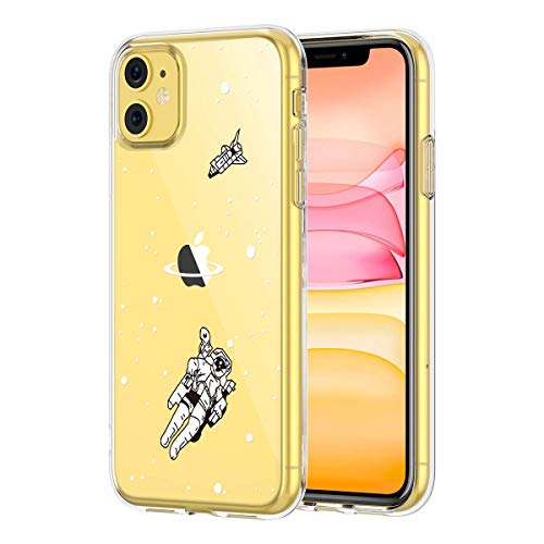 Clear iPhone 11 Case, GoldSwift Clear Soft Flexible Case for iPhone 11 6.1-Inch 2019 (Astronaut)