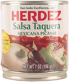 Herdez Salsa Taquera Tray, 7-Ounce (Pack of 12)