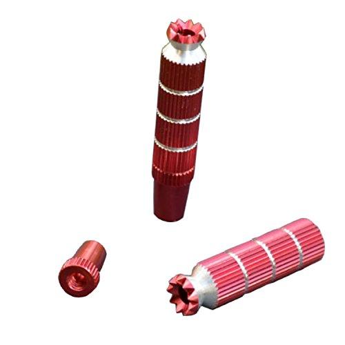 Steuerknüppel Stick Joystick Control Sticks Steuerung Fernsteuerung M4 Gewinde Lang Rot Aluminium Graupner Futaba Spektrum Alloy Anti-Rutsch-TX Steuerknüppel RC Modellbau Standmodellbau Zubehör Neu