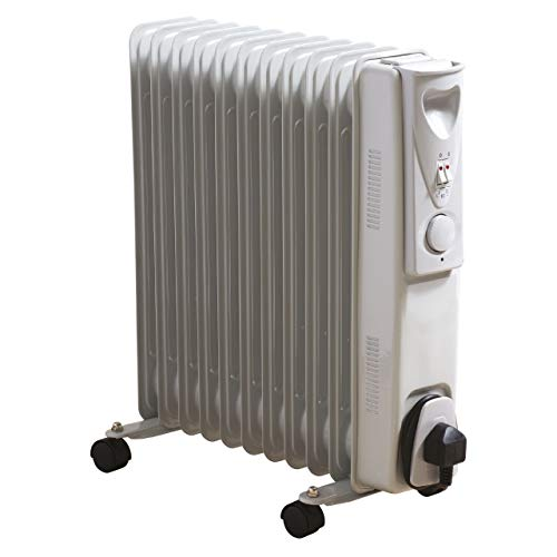 Daewoo 11 Fin 2500W Portable Oil Filled Radiator Heater