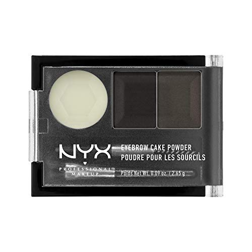 NYX PROFESSIONAL MAKEUP Eyebrow Cake Powder, Black/Gray
