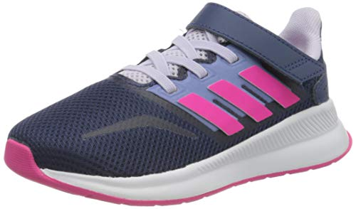 adidas Unisex-Child Runfalcon Sneaker, Tech Indigo/Shock Pink/Purple Tint, 35 EU